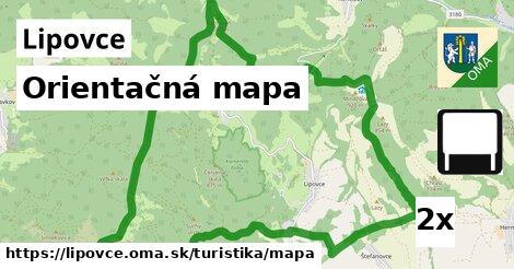 ilustračný obrázok k Orientačná mapa, Lipovce