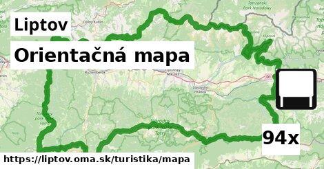 orientačná mapa v Liptov