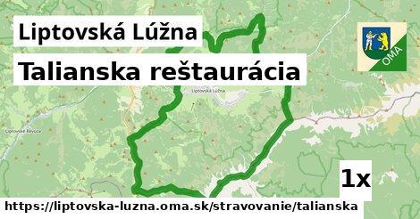 talianska reštaurácia v Liptovská Lúžna