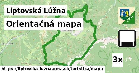 ilustračný obrázok k Orientačná mapa, Liptovská Lúžna