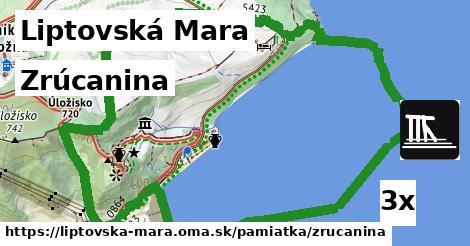 zrúcanina v Liptovská Mara