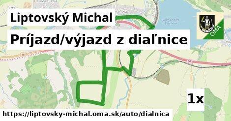 ilustračný obrázok k Príjazd/výjazd z diaľnice, Liptovský Michal