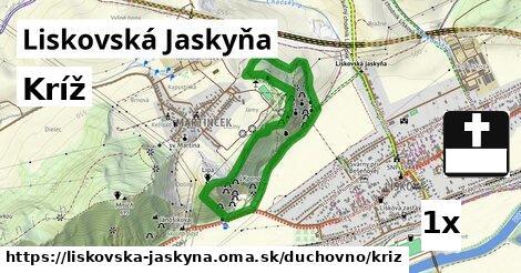 ilustračný obrázok k Kríž, Liskovská Jaskyňa