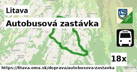 autobusová zastávka v Litava