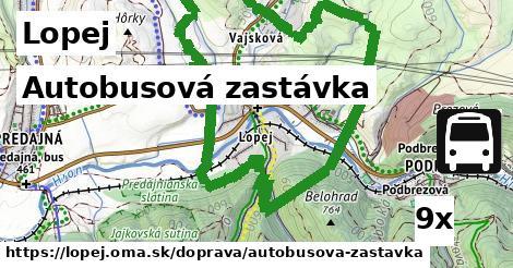 autobusová zastávka v Lopej
