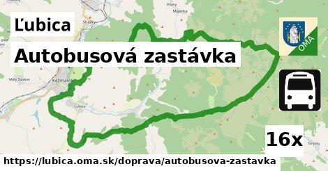 autobusová zastávka v Ľubica