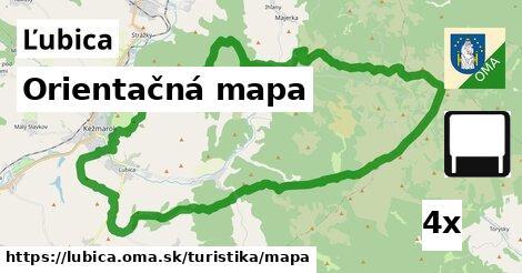 orientačná mapa v Ľubica