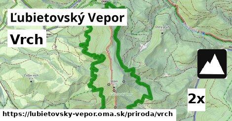 vrch v Ľubietovský Vepor