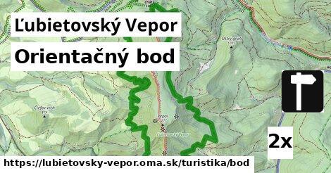orientačný bod v Ľubietovský Vepor