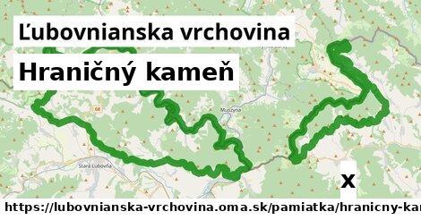 ilustračný obrázok k Hraničný kameň, Ľubovnianska vrchovina