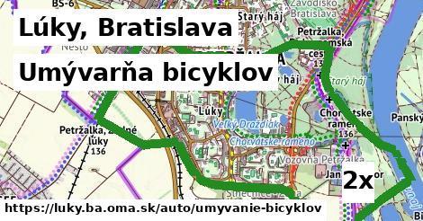 umývarňa bicyklov v Lúky, Bratislava