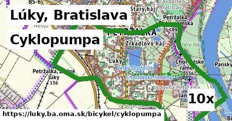 cyklopumpa v Lúky, Bratislava