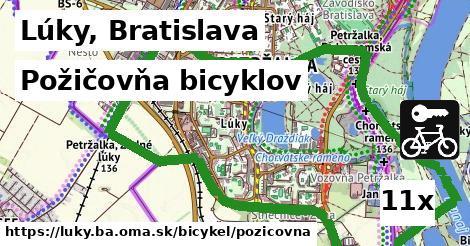 požičovňa bicyklov v Lúky, Bratislava
