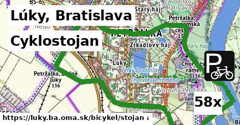 cyklostojan v Lúky, Bratislava