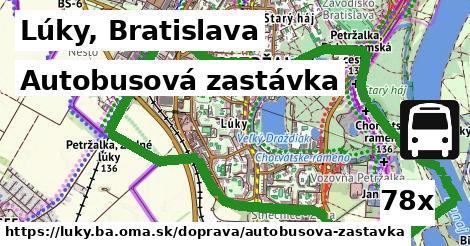 autobusová zastávka v Lúky, Bratislava