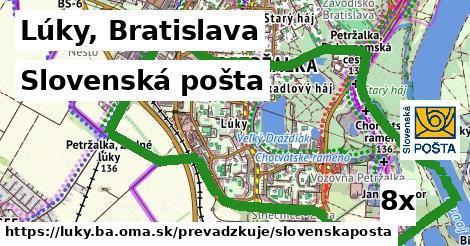 Slovenská pošta v Lúky, Bratislava