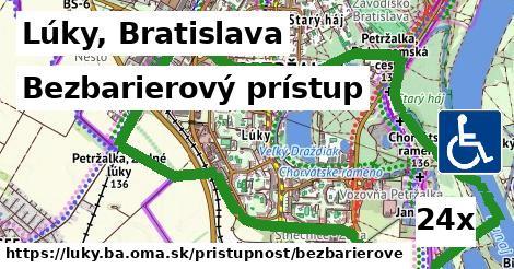 bezbarierový prístup v Lúky, Bratislava