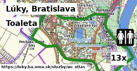 toaleta v Lúky, Bratislava