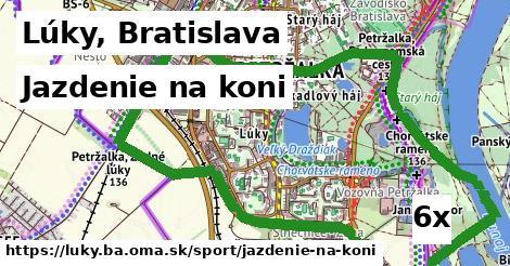 jazdenie na koni v Lúky, Bratislava