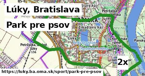 park pre psov v Lúky, Bratislava