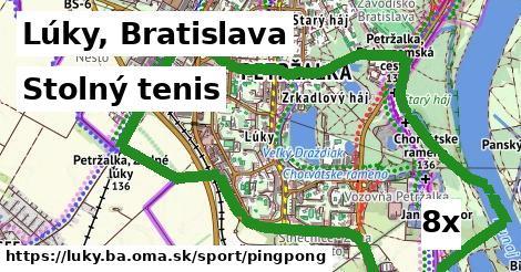 stolný tenis v Lúky, Bratislava