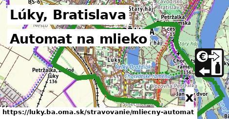 automat na mlieko v Lúky, Bratislava