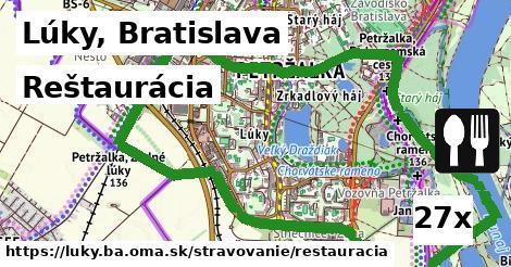 reštaurácia v Lúky, Bratislava
