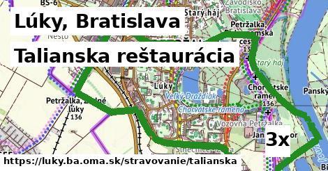 talianska reštaurácia v Lúky, Bratislava