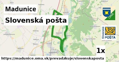 ilustračný obrázok k Slovenská pošta, Madunice