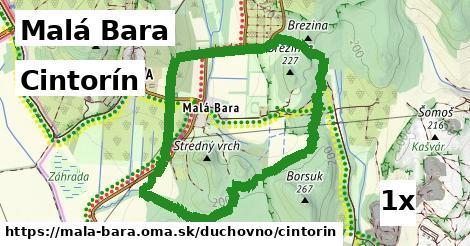ilustračný obrázok k Cintorín, Malá Bara