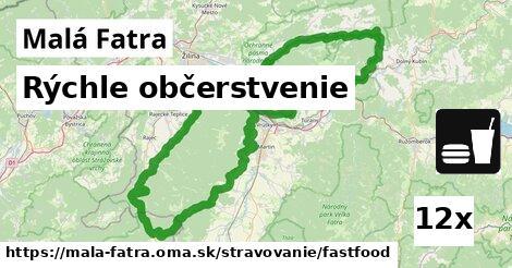 rýchle občerstvenie v Malá Fatra