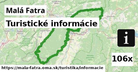 turistické informácie v Malá Fatra