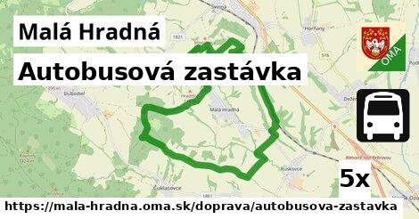 ilustračný obrázok k Autobusová zastávka, Malá Hradná