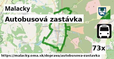 autobusová zastávka v Malacky