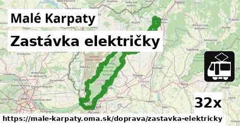 zastávka električky v Malé Karpaty