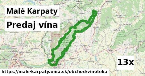 predaj vína v Malé Karpaty