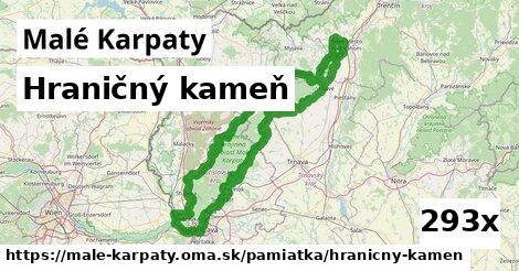 hraničný kameň v Malé Karpaty