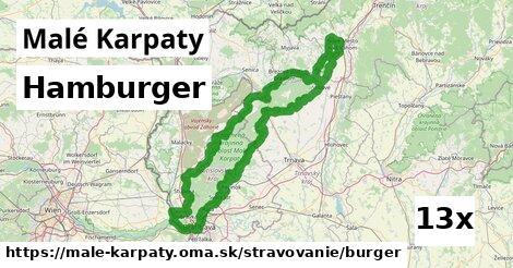 hamburger v Malé Karpaty