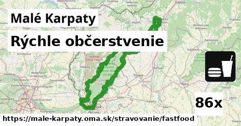 rýchle občerstvenie v Malé Karpaty