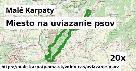miesto na uviazanie psov v Malé Karpaty
