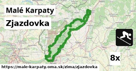 zjazdovka v Malé Karpaty