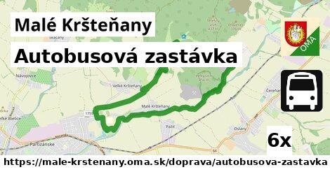 autobusová zastávka v Malé Kršteňany