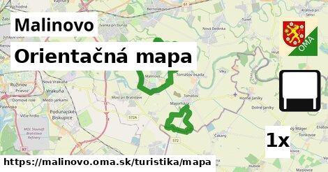 orientačná mapa v Malinovo