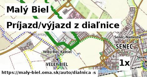 príjazd/výjazd z diaľnice v Malý Biel