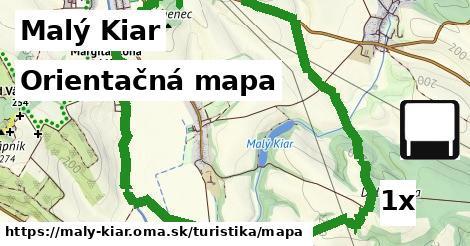 orientačná mapa v Malý Kiar