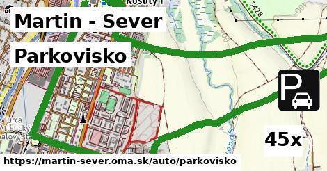 parkovisko v Martin - Sever
