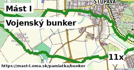 vojenský bunker v Mást I