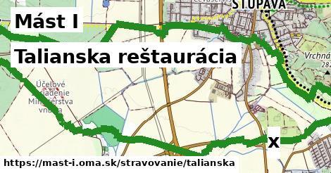 talianska reštaurácia v Mást I