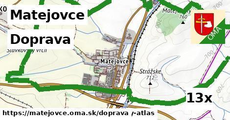 doprava v Matejovce