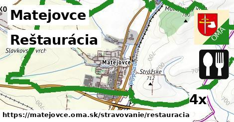 reštaurácia v Matejovce